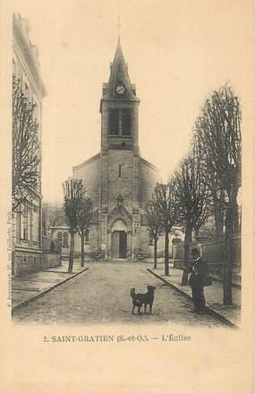 """CPA FRANCE 95 """"Saint Gratien, l'Eglise"""""""