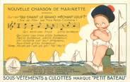 """Theme CPA PUBLICITE """"Sous vetements et culottes Petit Bateau"""" / ILLUSTRATEUR B. MALLET"""