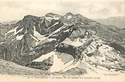 """CPA FRANCE 65 """"Gavarnie, le cirque vu du sommet du Taillon"""" / MONTAGNE / Collection SPONT, N° 62"""
