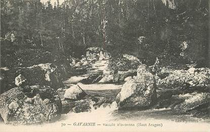 "CPA FRANCE 65 ""Gavarnie, vallée d'Ordessa"" / MONTAGNE / Collection SPONT, N° 70"