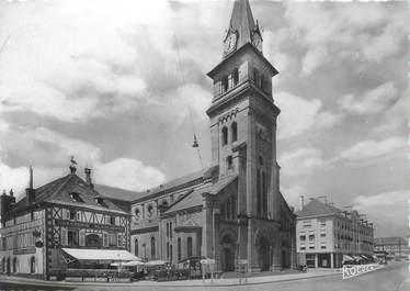 """CPSM FRANCE 88 """"St Dié, Eglise et Plage St Martin"""""""