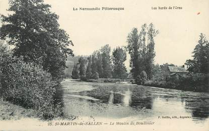 "CPA FRANCE 61 ""Saint Martin de Sallen, le Moulin de Boudinier"""