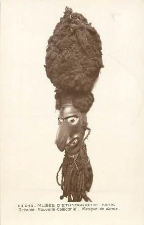 """CPA NOUVELLE CALEDONIE """"Musée d'Ethnographie de Paris, Masque de danse"""""""
