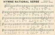 "Europe CPA SERBIE ""Hymne national"""
