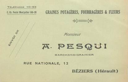 """CPA FRANCE 83 """"Béziers, A. Pesqui, marchand Grainier"""""""