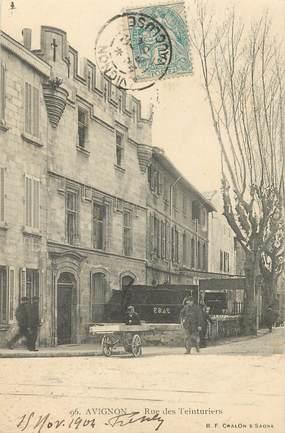 "CPA FRANCE 84 ""Avignon, Rue des Teinturiers"""