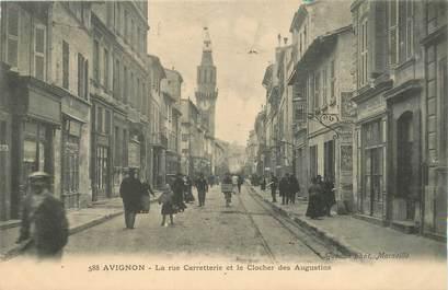 """CPA FRANCE 84 """"Avignon, la rue Carretterie"""""""