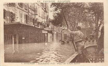 "CPA FRANCE 84 ""Avignon, Inondations 1935"""