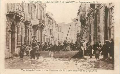 """CPA FRANCE 84 """"Avignon, Inondations 1935"""""""