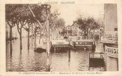"""CPA FRANCE 84 """"Avignon, Inondations 1935, Bld Saint Michel et Garage Mattei"""""""