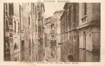 """CPA FRANCE 84 """"Avignon, Inondations 1935, rue des vieilles Etudes"""""""