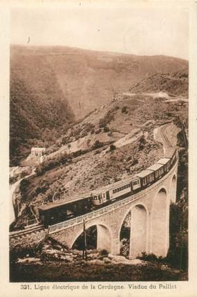 """CPA FRANCE 66 """"Ligne électrique de la Cerdagne, Viaduc du Paillat"""""""