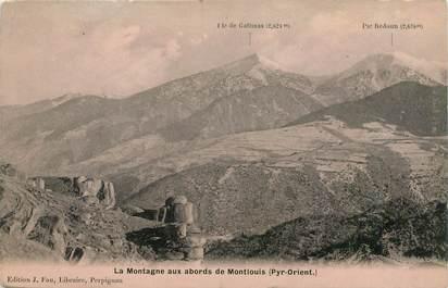 """CPA FRANCE 66 """"La Montagne aux abords de Montlouis"""""""