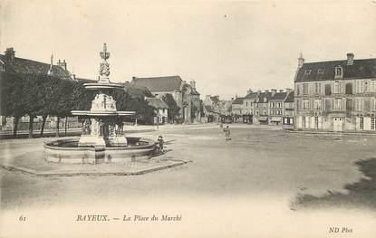 """/ CPA FRANCE 14 """"Bayeux, la place du marché"""""""