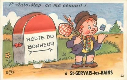 "CPA FRANCE 74 ""Saint Gervais les Bains"" / CARTE A SYSTEMES"