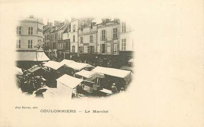 "CPA FRANCE 77 ""Coulommiers, le Marché"""