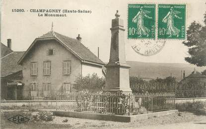 """CPA FRANCE 70 """"Champagney, monument aux morts"""""""