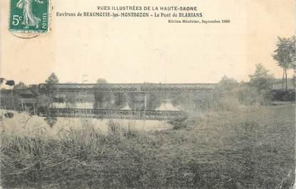 """CPA FRANCE 70 """"Env. de Beaumotte les Montbozon, Le Pont de Blarians"""""""