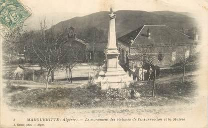 """CPA ALGERIE """"Margueritte, monument aux morts"""" / GEISER"""