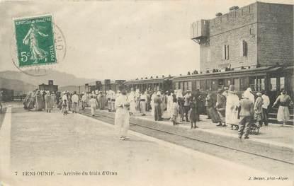 "CPA ALGERIE ""Beni Ounif, arrivée du train d'Oran"" / GEISER"