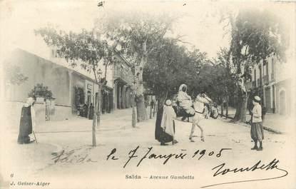 """CPA ALGERIE """"Saïda, avenue gambetta"""" / GEISER"""