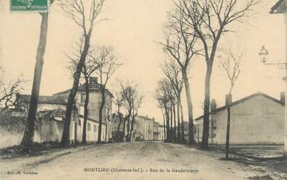 "CPA FRANCE 17 ""Montlieu, rue de la gendarmerie"""