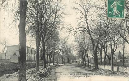 """CPA FRANCE 17 """"Saint Hilaire de Villefranche, avenue Saint Jean"""""""