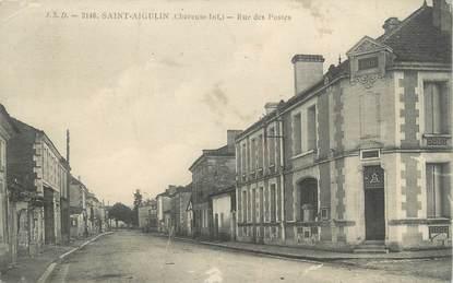 """CPA FRANCE 17 """"Saint Aigulin, rue des Postes"""""""