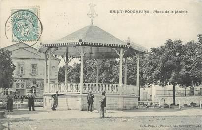 """CPA FRANCE 17 """"Saint Porchaire, place de la mairie"""""""