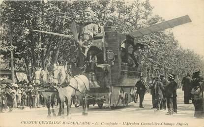 """CPA  """"Marseille, aérobus Canebière"""" / CARNAVAL"""