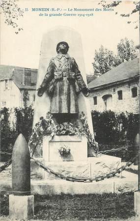 """CPA FRANCE 64 """"Monein, le monument aux morts"""""""