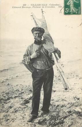 """CPA FRANCE 14 """" Villerville, pêcheur de crevettes """""""