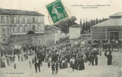 """CPA FRANCE 16 """" Confolens, concert militaire """""""