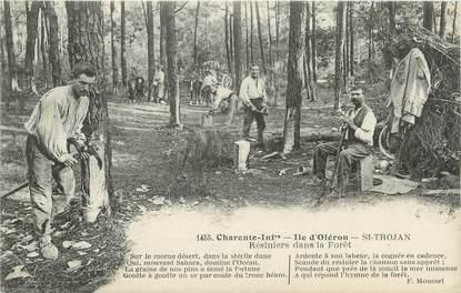"""CPA FRANCE 17 """" Ile d'Oléron, saint Trojan, résiniers """""""