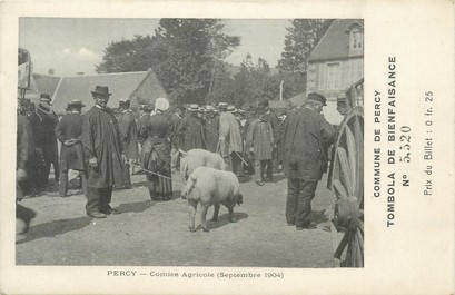 """CPA FRANCE 50 """" Percy, tombola 1904 """""""