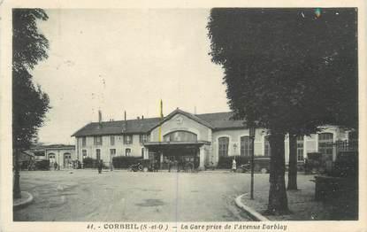 """CPA FRANCE 91 """"Corbeil, la gare"""""""