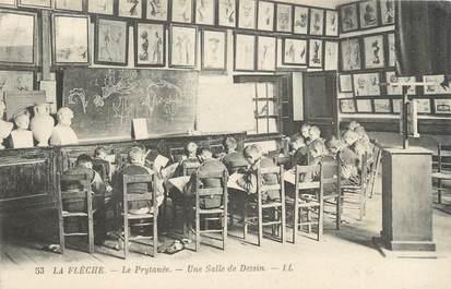 "CPA FRANCE 72 ""La Flèche, salle de dessin"""