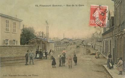 "CPA FRANCE 80 ""Flixecourt, rue de la gare"""