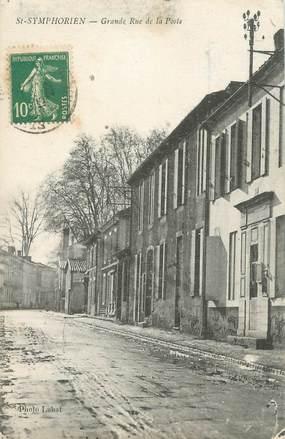 """CPA FRANCE 33 """"Saint Symphorien, grande rue de la poste"""""""