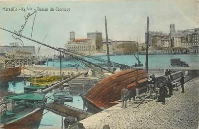 """CPA FRANCE 13 """"Marseille, bassin du carénage"""""""