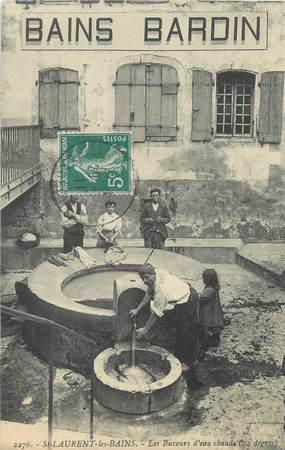 """CPA FRANCE 07 """"Saint Laurent les Bains, les buveurs d'eau chaude"""""""