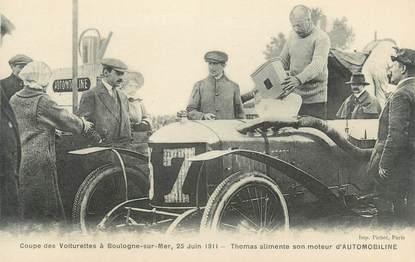 """CPA FRANCE 62 """"Coupe des Voiturettes à Boulogne sur Mer, 1911"""" / AUTOMOBILE"""