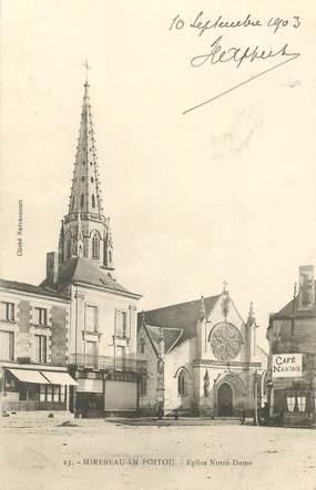 "CPA FRANCE 86 ""Mirebeau en Poitou, Eglise Notre Dame"""