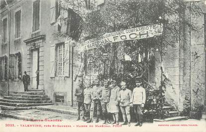 """CPA FRANCE 31 """"Valentine près de Saint Gaudens, maison du Maréchal Foch"""""""