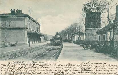 """CPA FRANCE 69 """"Condrieu, la gare"""" / TRAIN"""