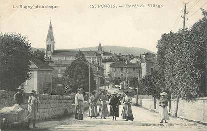 """CPA FRANCE 01 """"Poncin, Entrée du village"""""""