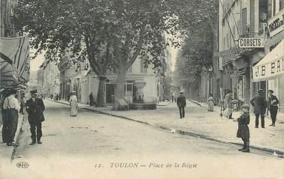 """CPA FRANCE 83 Toulon, Place de la Régie"""""""