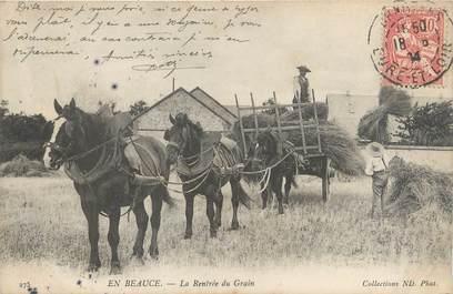 """CPA FRANCE 45 """"En Beauce, la Rentrée du Grain"""""""