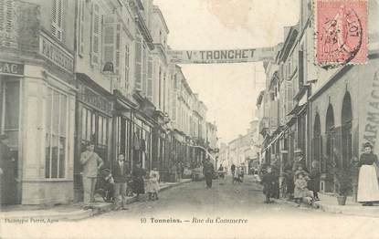 "CPA FRANCE 47 ""Tonneins, rue du Commerce"""