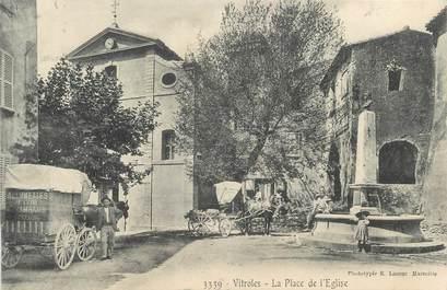 """CPA FRANCE 13 """"Vitroles, la place de l'Eglise"""""""